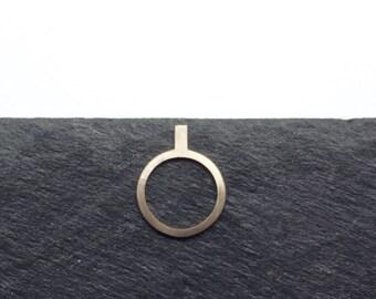 ENLUMINURE//  No12 // bronze ring // vertical bar ring