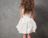 Odessa white silk wrap dress
