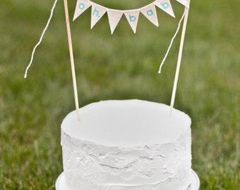 Oh, Baby Cake Topper Banner / Custom Color baby cake topper