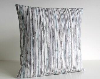 18x18 Pillow Sham, 18 Inch Cushion Cover - Bark Stripes Muted