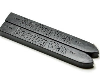 2 Black Wick Sealing Wax Sticks for Wax Seal Stamp