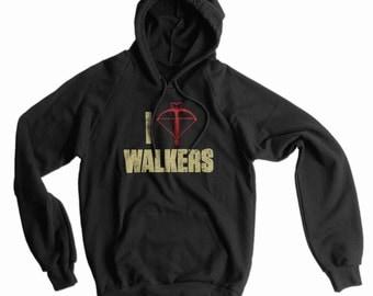 I Heart Walkers American Apparel Pullover Hoodie