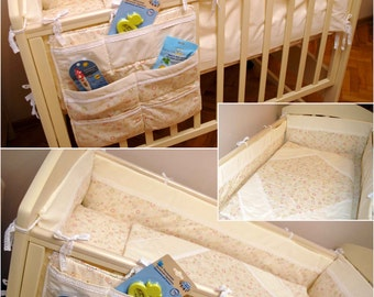 baby bedding sets for twins : 8 pcs bumpers+ 2 quilts
