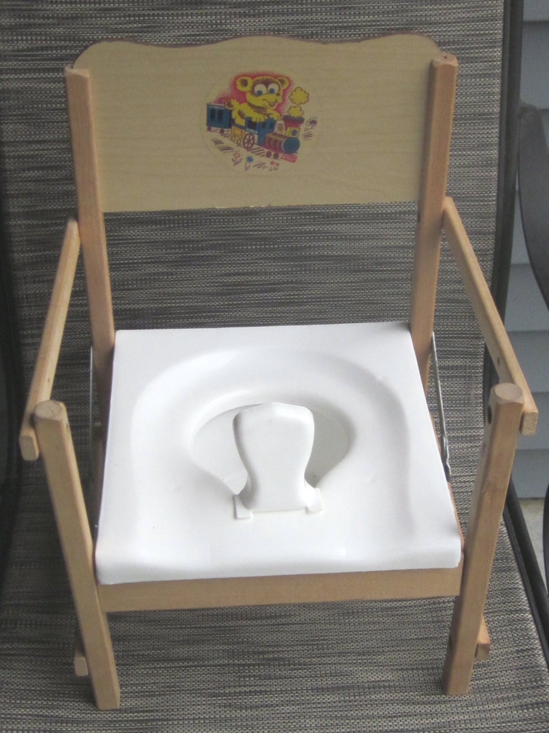 Vintage Potty Training Folding Chair