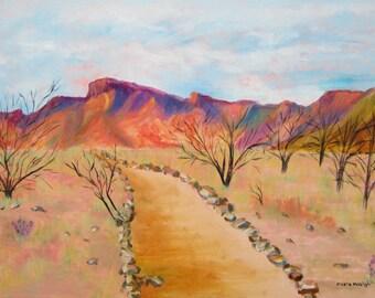 The Mesquite Trail Arizona original oil painting