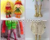 "PDF pattern vinyl boots for 12"" Blythe, Middie Blythe and Strawberry Shortcake dolls"