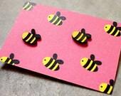 Earrings - Busy Buzzy Bee Stud Earrings