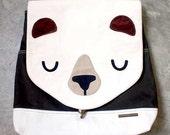 Backpack - The Honey Bear UNISEX BackPack (Cream Olive) 4 WEEKS TURNAROUND