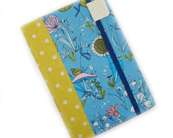 Kindle Paperwhite Cover - Quirky Retro Botanical - sky blue and lime kindle cover or case - cute woodland floral