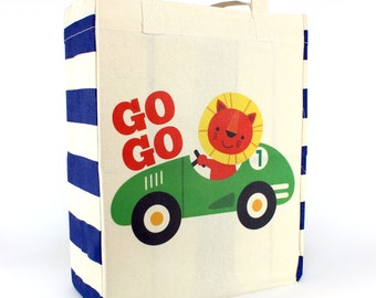 Go Go Race Car Lion Tote speedy Racing Driver