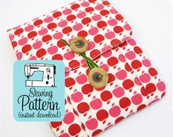 Idea Pouch PDF Sewing Pattern | Sew a large pouch for journal storage or notebook carrying case or to use as a tablet computer case.