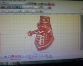 Dalek Machine Embroidery Pattern Download Dr Who Patch