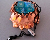 RESERVED FOR LEAH :  Larger Solid Copper Scale Mail Dice Bag (Of Awesomeness)