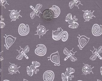 One yard - Gray Garden Friends - Wee Gallery - Dear Stella cotton quilt fabric