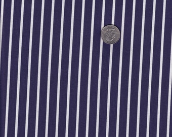 One yard - Navy Pin Stripe - London Calling for Jack and Lulu - Dear Stella cotton quilt fabric