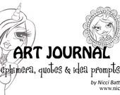Art Journal INSPIRATION Goodie Bag by Nicci Dot C A