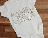 Philly pretzel - organic baby onesie - organic cotton baby gift - organic baby - gender neutral baby gift - Philly gift - girls can tell