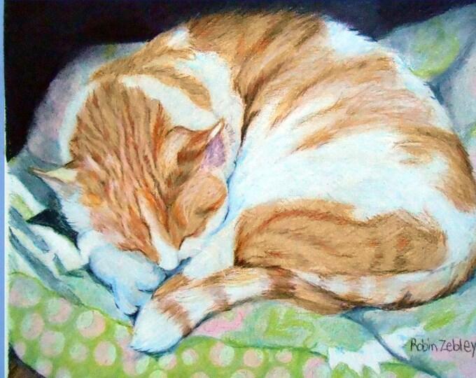 Custom Cat Portrait Drawing