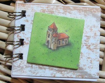 Scribbler with Carcassonne Abbey