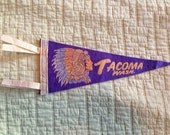 Vintage Tacoma, Washington pennant flag 1960s
