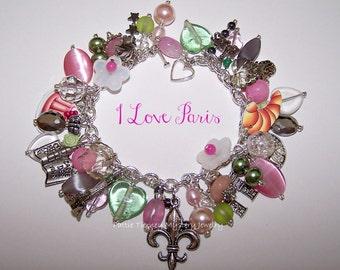 I LOVE PARIS Artisanal Charm Bracelet