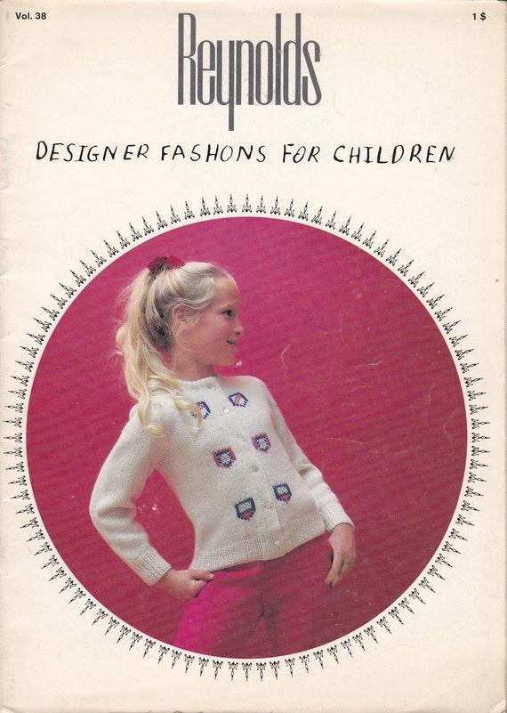 Reynolds Designer Fashions For Children Vol. 38 Knitwear - Vintage Knitting Patterns