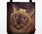 Pet Lover Tote Bag, Custom Photo Bag, Crazy Cat Lady Gift