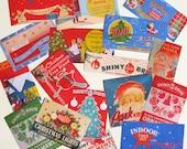 17 Assorted Vintage Christmas Lights Ornament Boxes Digital Tags Labels INSTANT DOWNLOAD