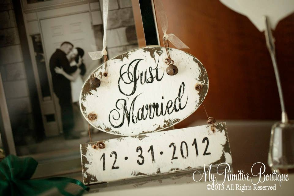 Just Married Ornament Personalized Christmas Ornament