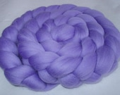 LILAC, super soft merino wool roving, spinning fiber, 20 micron, wet/nuno/needle felting,dolls hair, dreads, handspinning, combed top, 3.5oz