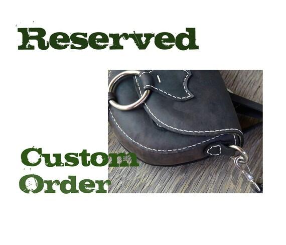 RESERVED CUSTOM The Saddler hand stitched mini bag feral empire