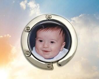 Personalized Custom Photo Purse Hanger - NEW Item - 30mm Image