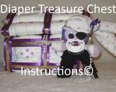 Diaper Treasure Chest Instructions, Diaper Cake, baby gift, babyshower, welcome baby DIY