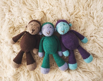 PATTERN Marlowe Monkey knitting toy