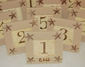 Set of 10 WEDDING frames, TABLE NUMBERS Beach, Starfish, Palm Trees,Rustic, Bridal Shower, Distressed, Shabby Chic