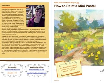 Pastel Painting Lesson Demo PDF How to Paint a MINI Pastel Art Tutorial  booklet aceo atc