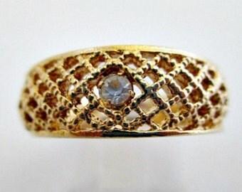 Avon Lattice Lace Ring Size 8 in Original Box - Vintage 1978 Avon Jewelry
