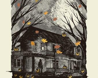 Jack O Lanterns - Screenprinted Art Print