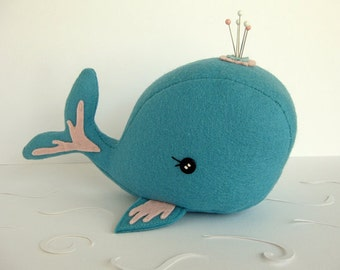 Whale Pincushion - Made to Order