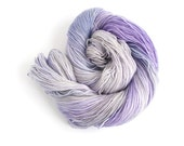 Lilac sock yarn, sparkly 4ply wool, hand dyed fingering, superwash merino sock yarn, Perran Yarns Fairy Dust, knitting crochet uk, purple