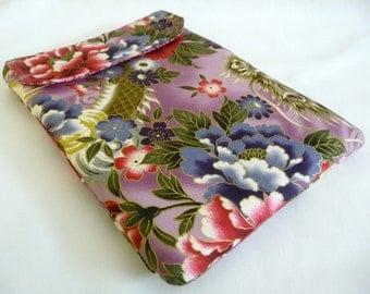 SALE Purple Floral Dragon iPad 2 Sleeve, Foam Padded