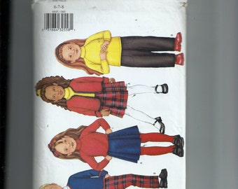Butterick  Children's Jacket, Top, Skirt, and Pants Pattern 6845