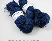 vintage - aquae singles, fingering weight sock yarn (dyed to order)