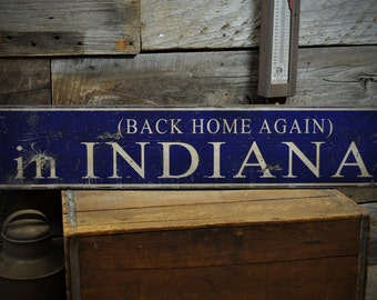 Indiana Home Sign Etsy
