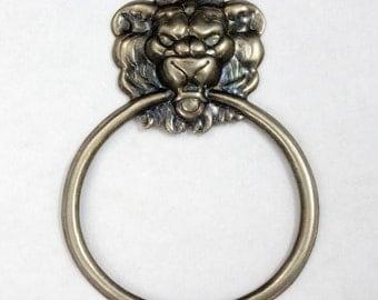 65mm Antique Silver Lion Doorknocker #2350