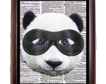 Super Panda Nerd Newsprint Cigarette Case Wallet Business Card Case Sweetheartsinner Kawaii
