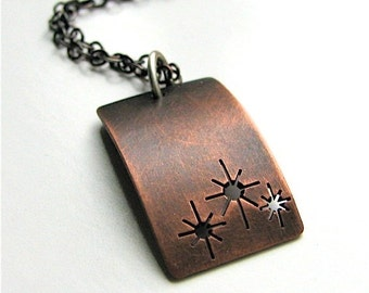 At Twilight copper pendant - made to order