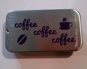 Coffee Lovers Unite! Two Magnet Set In Cute Sliding Tin - Great Gift! Limited Edition!