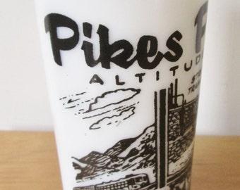 vintage Pikes Peak Colorado souvenir glass