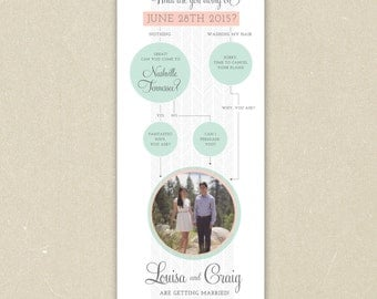Photo Save the Date - Fun Flow Chart Diagram